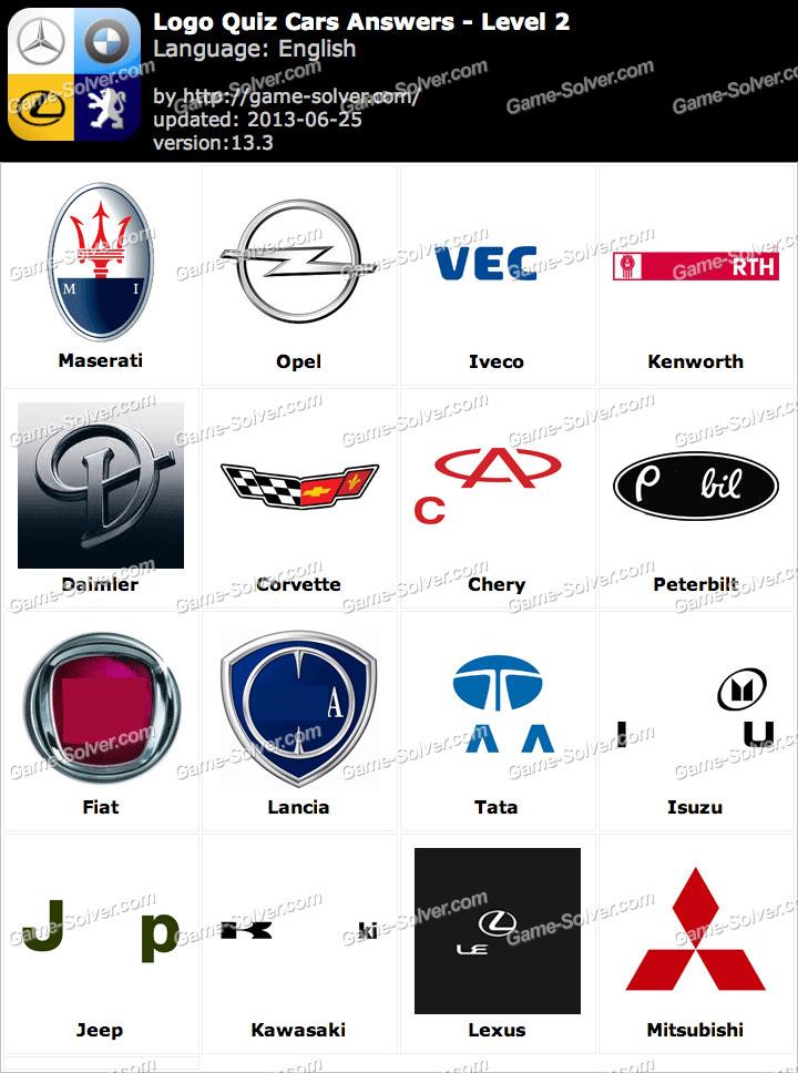 Logo Quiz Cars Answers Level 2