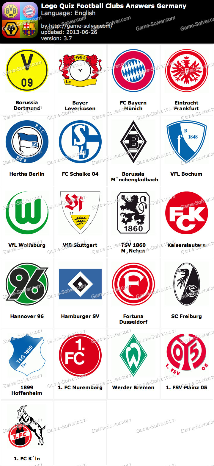 Logo Quiz Football Clubs Answers Germany