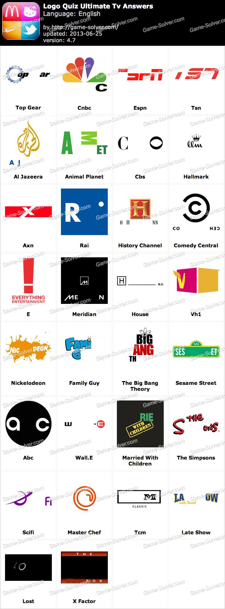 Logo Quiz Ultimate Tv Answers