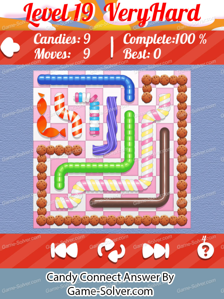 Candy Connect 9x9 Very Hard Level 19