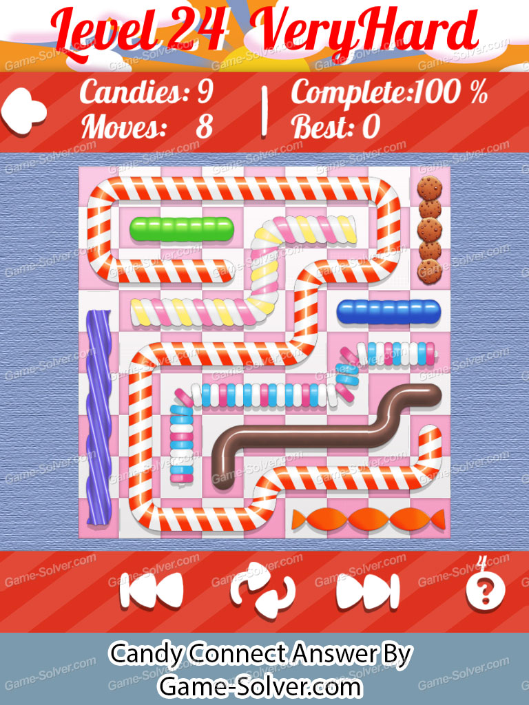 Candy Connect 9x9 Very Hard Level 24