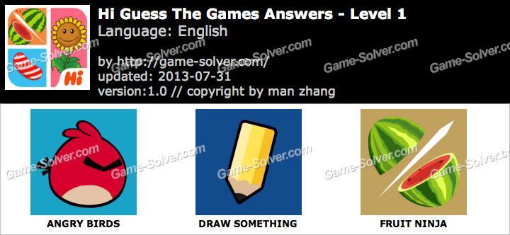 Hi Guess the Games Level 1