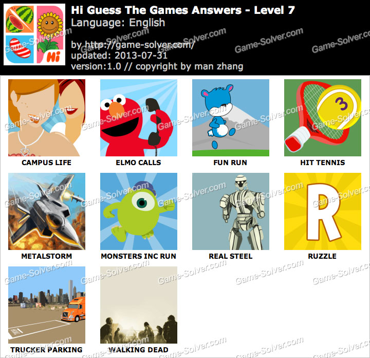 Hi Guess the Games Level 7