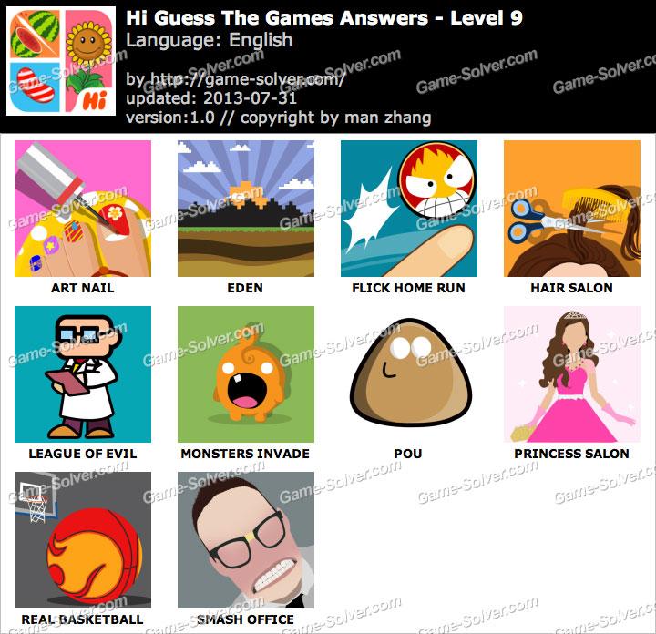 Hi Guess the Games Level 9