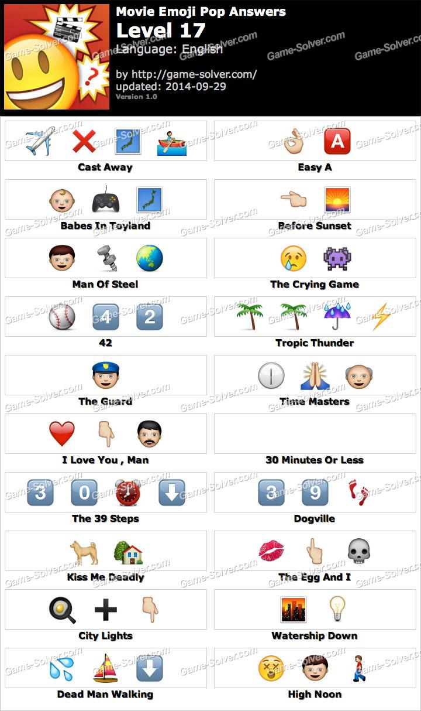 Movie Emoji Pop Level 17