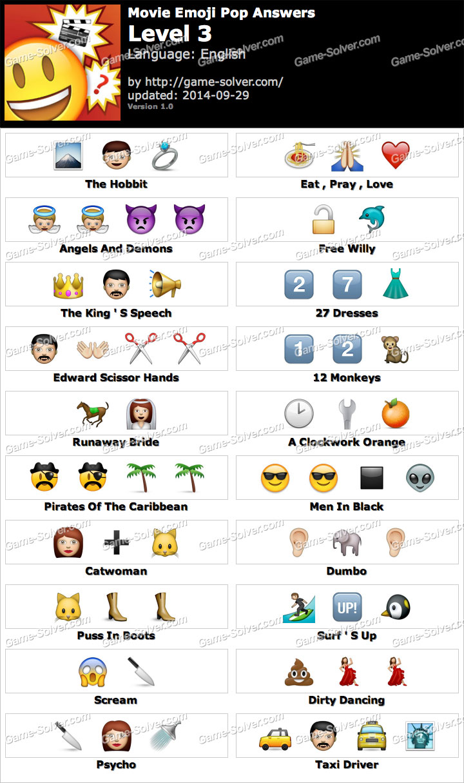 Movie Emoji Pop Level 3