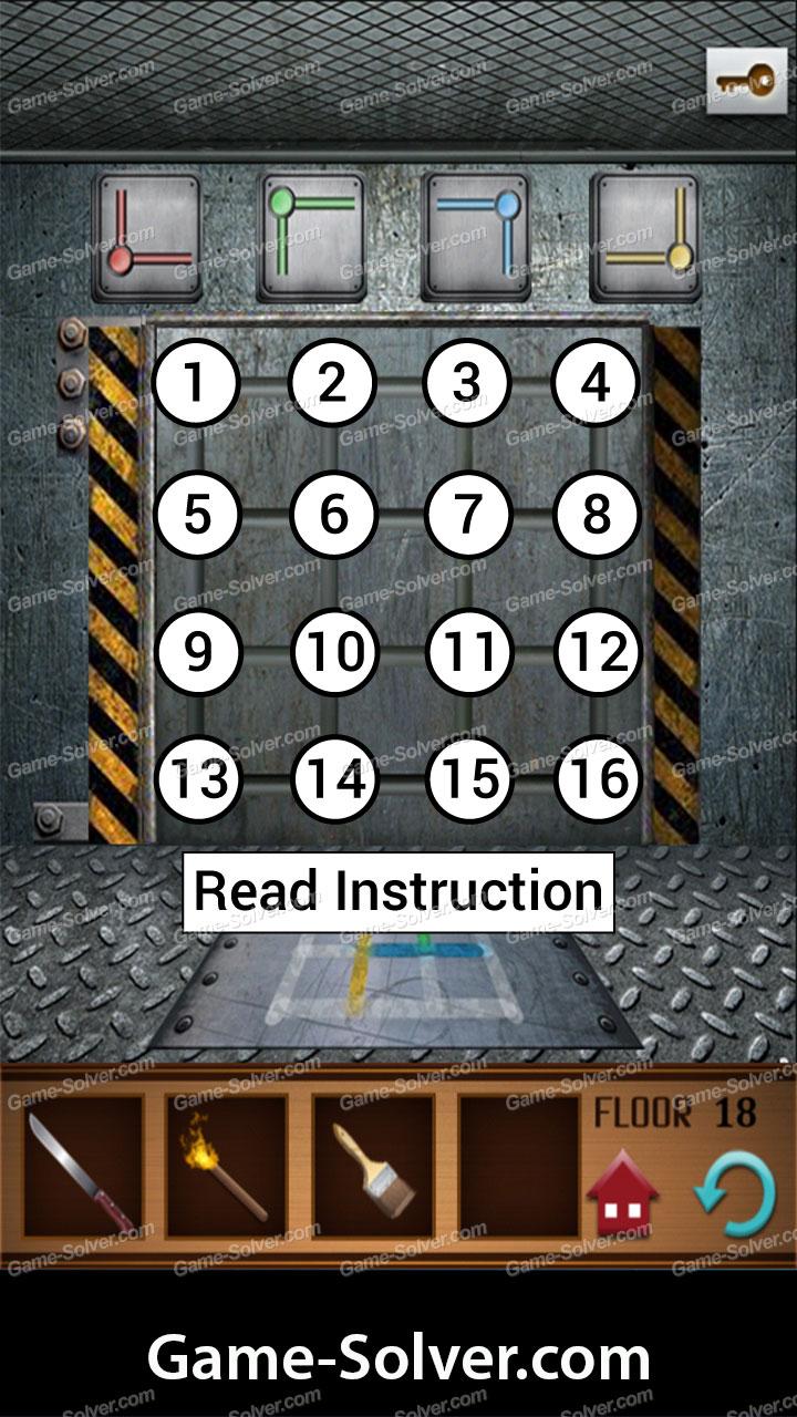 100 Floors Annex Level 18 Game Solver