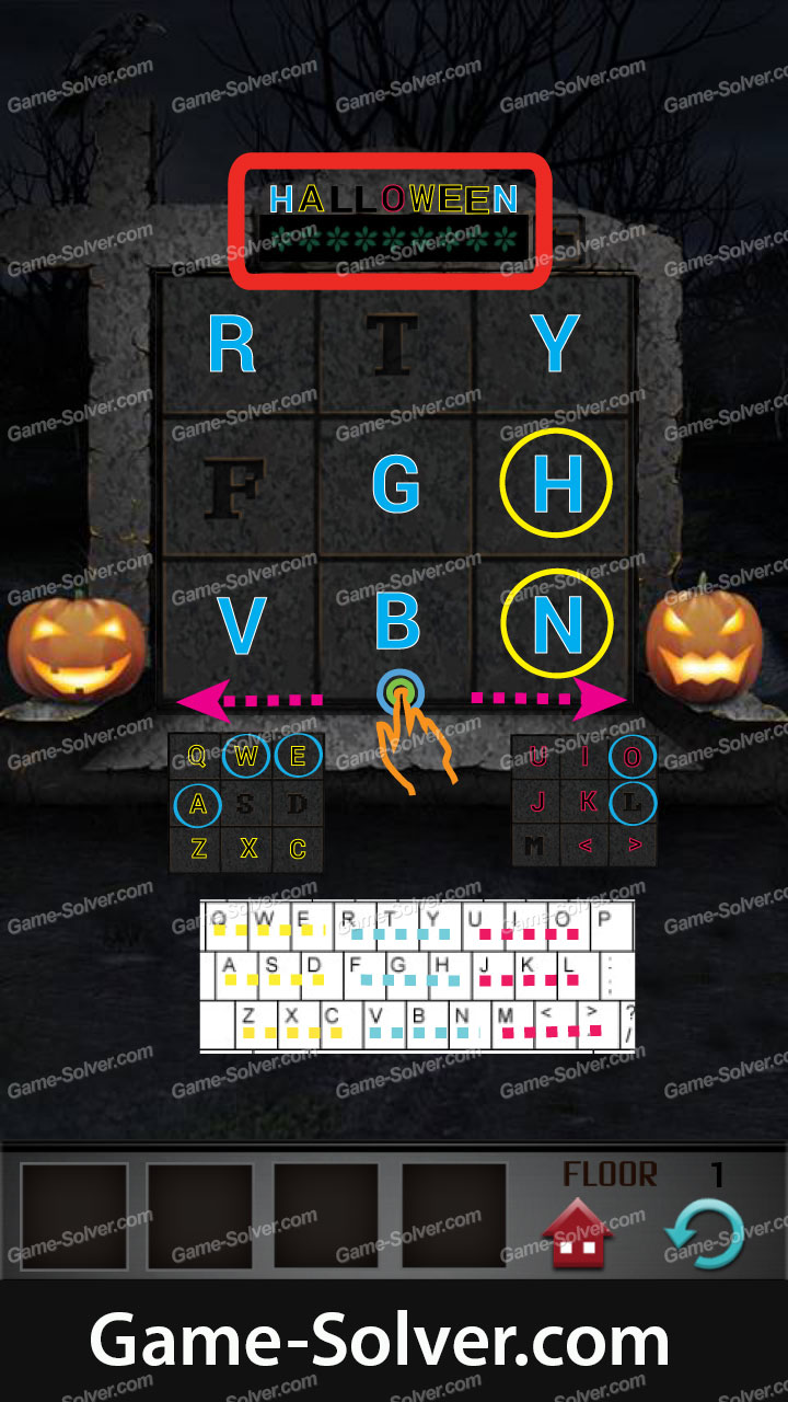 100 Floors Seasons Tower Halloween Walkthrough September 2013 Game Solver