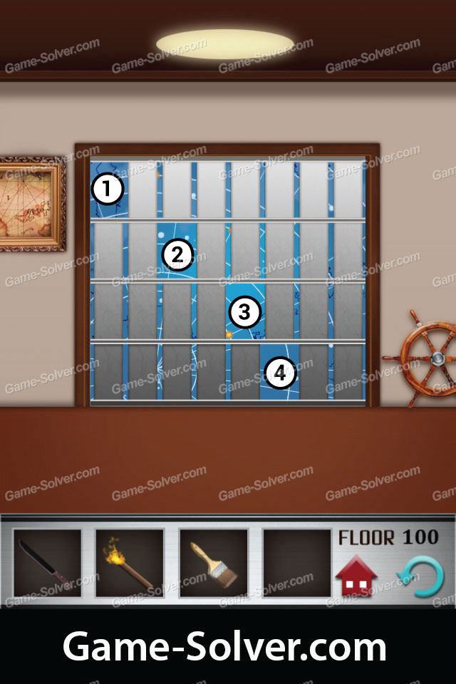 100 Floors Level 100 Game Solver