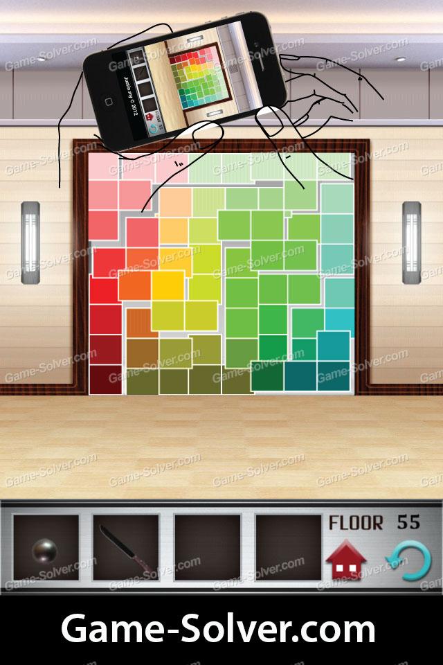 100 Floors Level 55 Game Solver