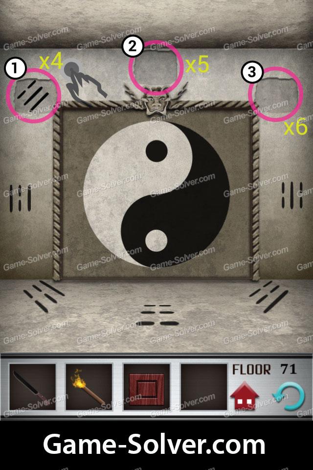 100 Floors Level 71 Game Solver