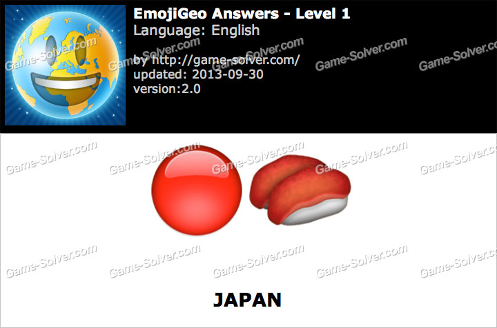 EmojiGeo English Level 1