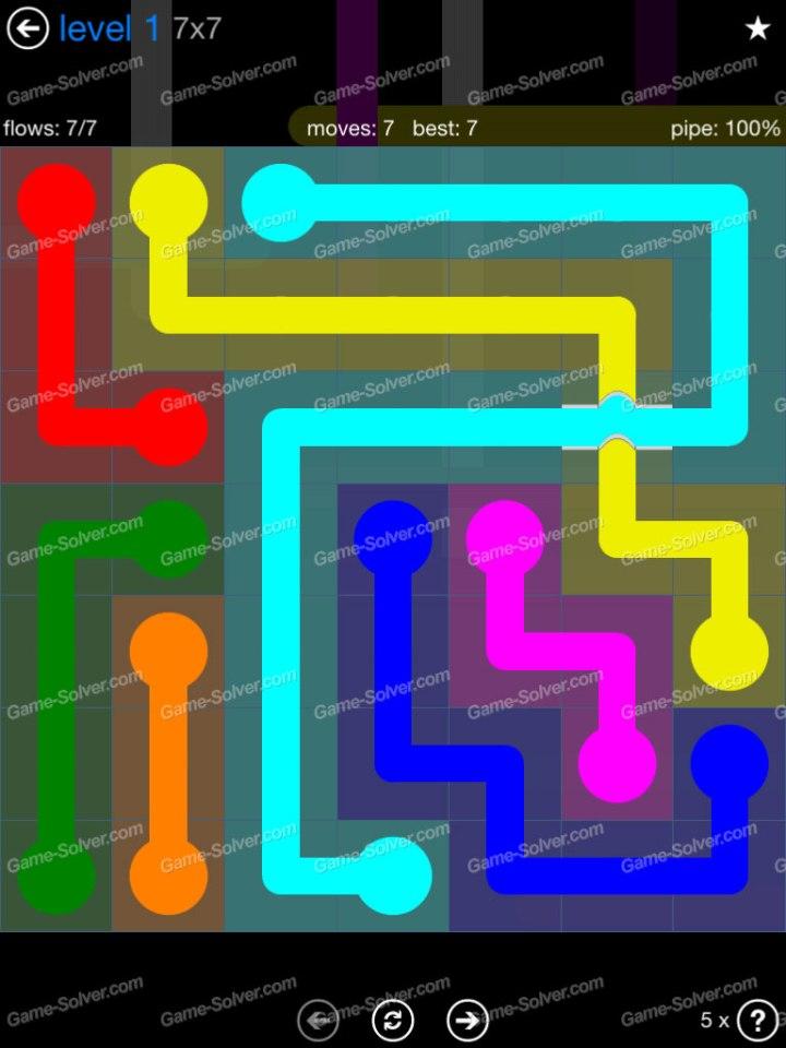 Flow Bridges Challenge Pack 7x7 Level 1
