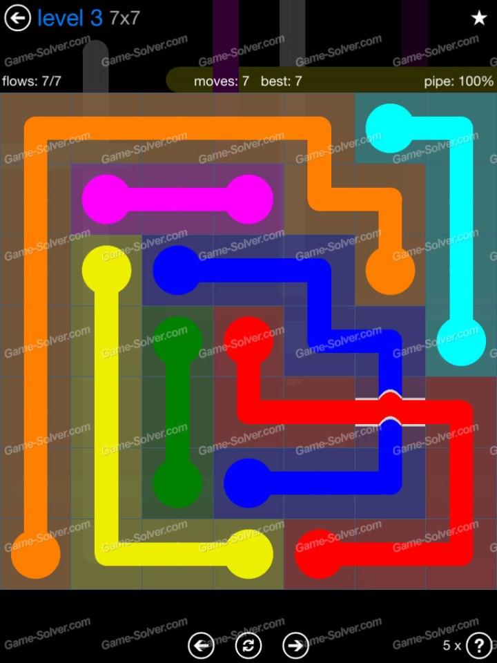 Flow Bridges Challenge Pack 7x7 Level 3