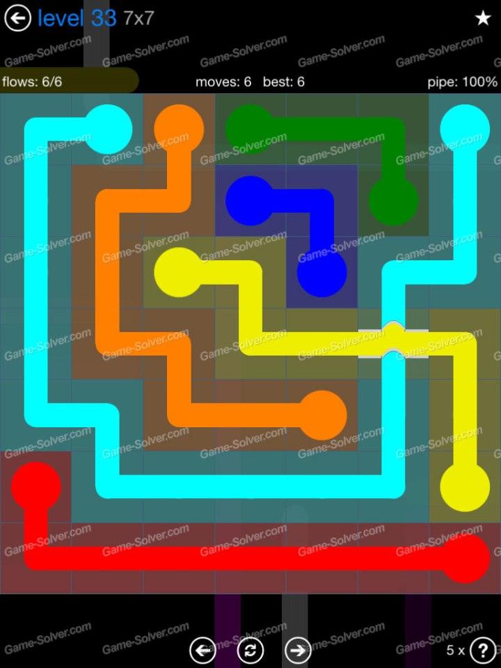 Flow Bridges Challenge Pack 7x7 Level 33
