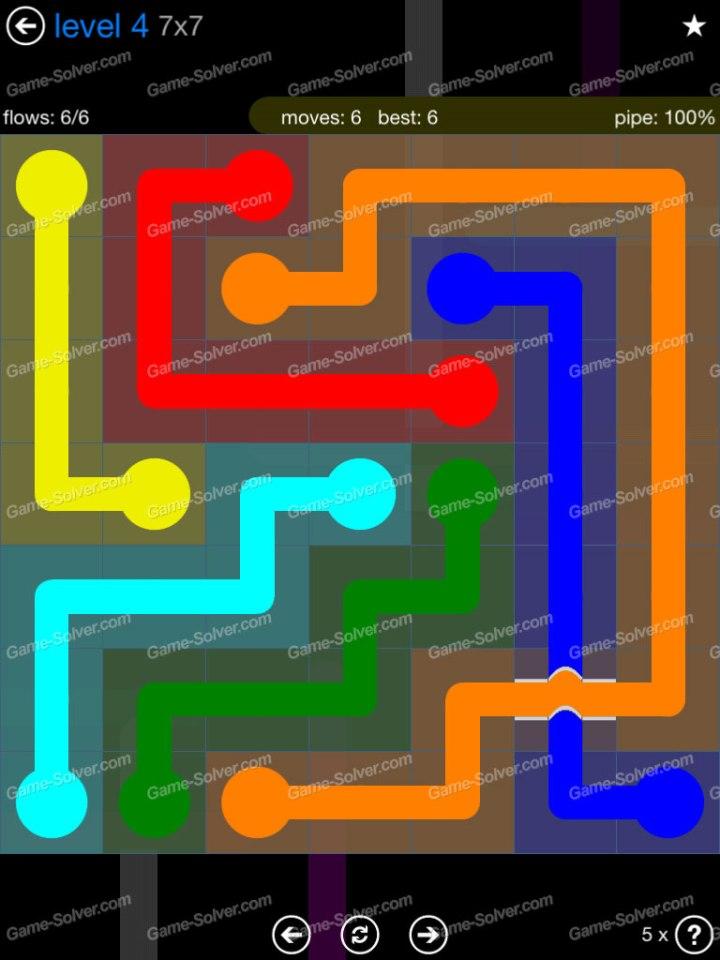 Flow Bridges Challenge Pack 7x7 Level 4