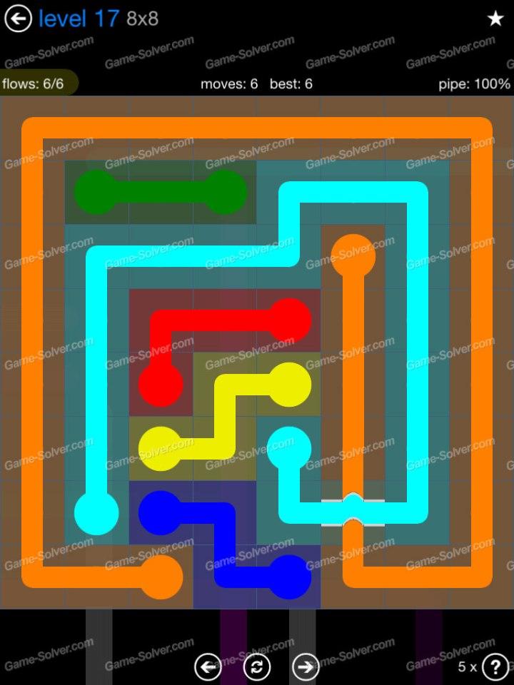 Flow Bridges Challenge Pack 8x8 Level 17
