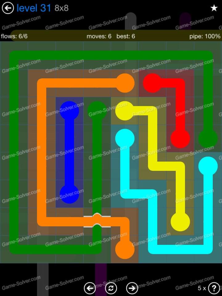Flow Bridges Challenge Pack 8x8 Level 31