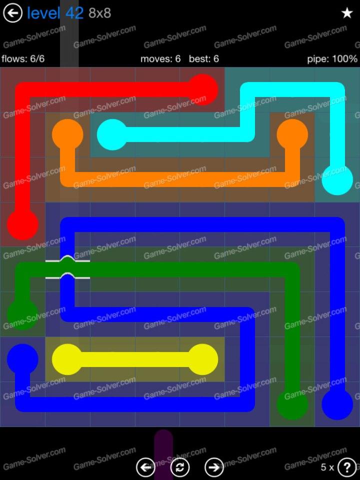 Flow Bridges Challenge Pack 8x8 Level 42