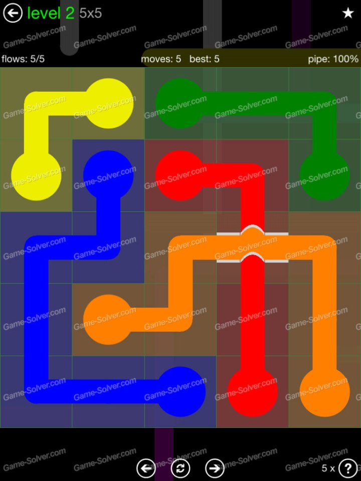 Flow Bridges Classic Pack 5x5 Level 2