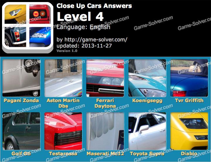 Close Up Cars Level 4