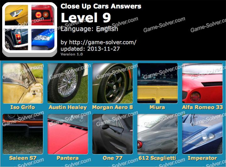Close Up Cars Level 9