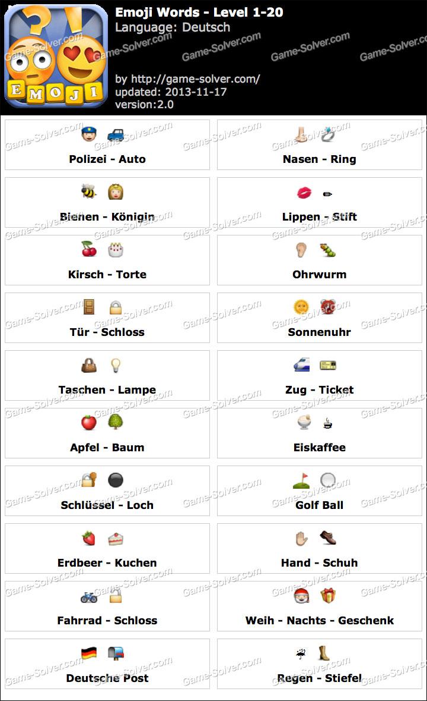 Emoji Words Deutsch Level 1-20