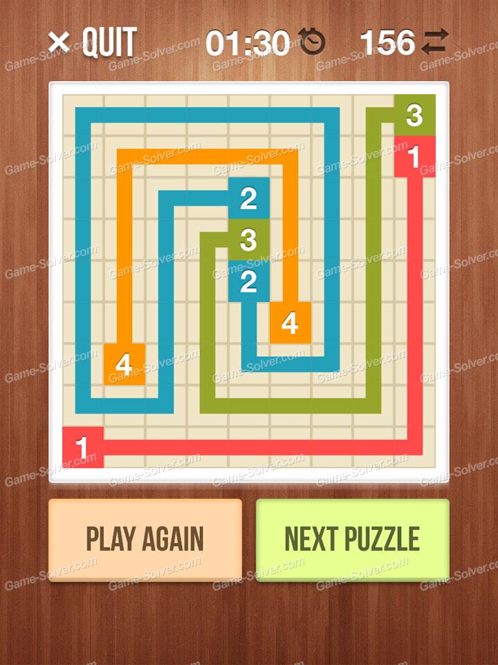 Number Link Puzzling Lines Level 1
