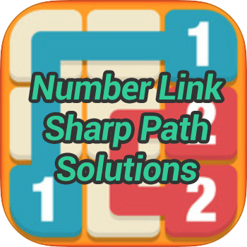Number Link Sharp Path Pack Solutions