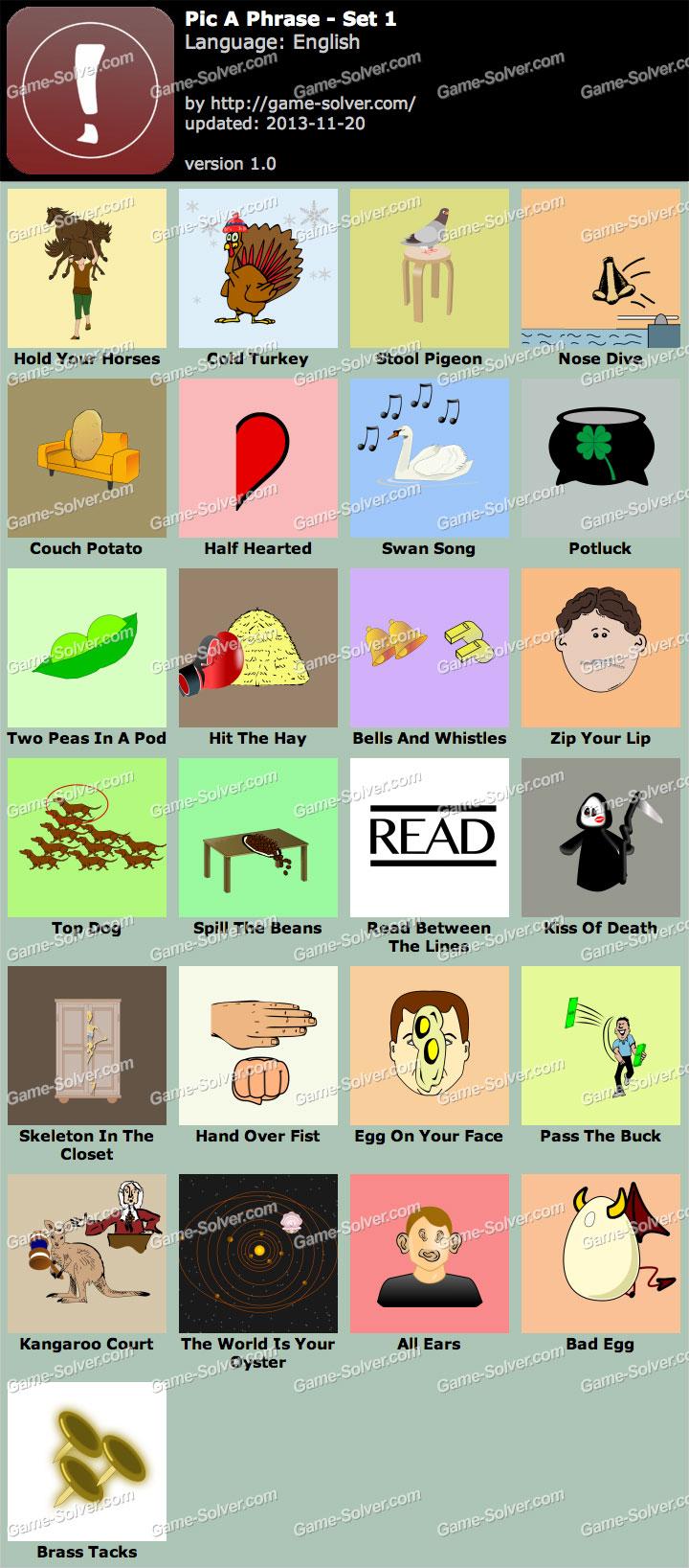 Pic a Phrase et 1
