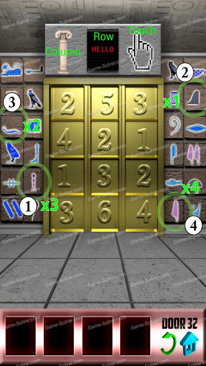 100 Doors Level 32 Game Solver