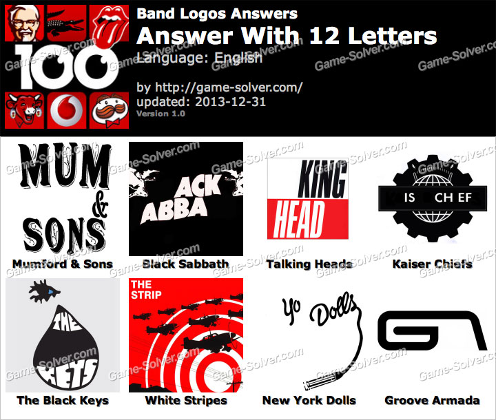 Band Logos 12 Letters