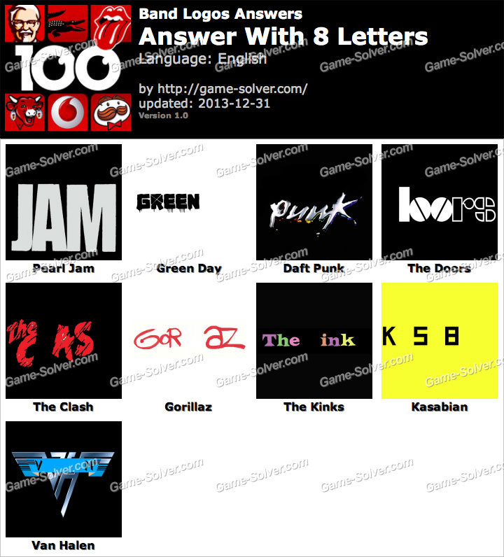 Band Logos 8 Letters