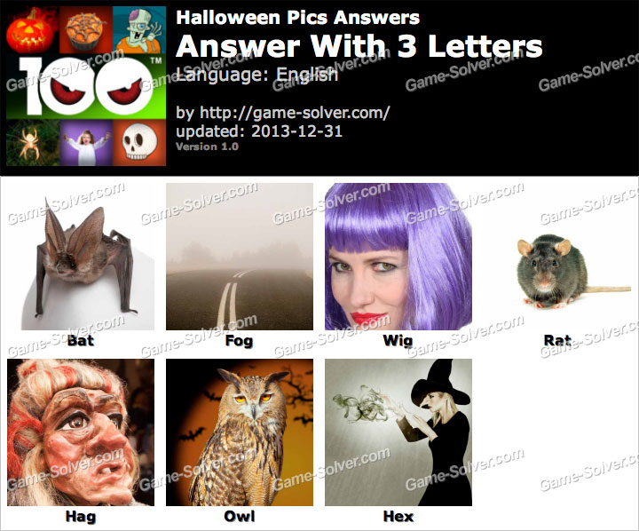 Halloween Pics 3 Letters