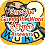 One Clue Answers 3 Letters