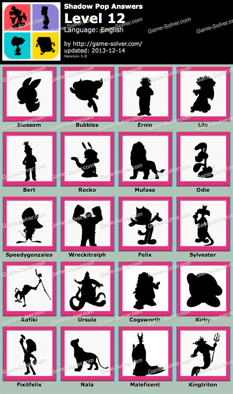 Shadow Pop Level 12