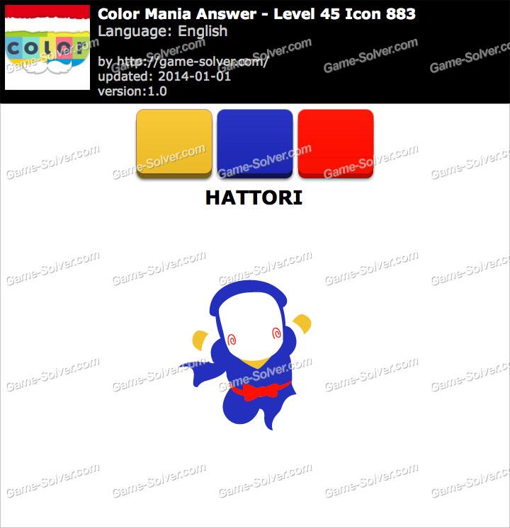Colormania Level 45 Icon 883 HATTORI
