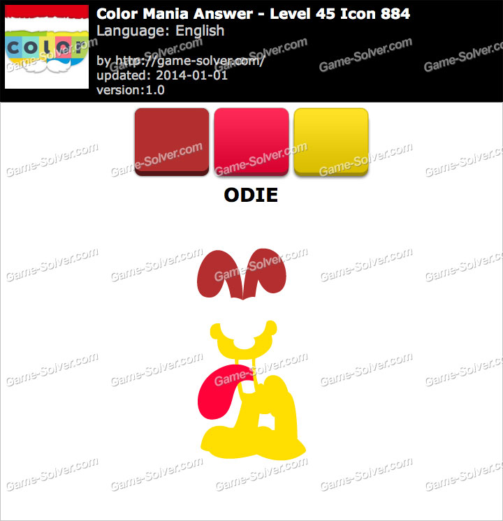 Colormania Level 45 Icon 884 ODIE