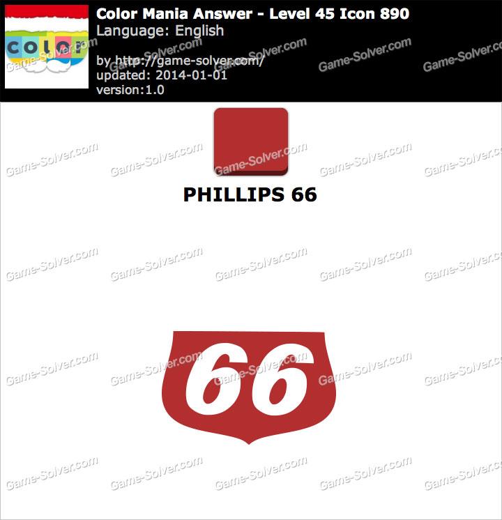 Colormania Level 45 Icon 890 PHILLIPS 66