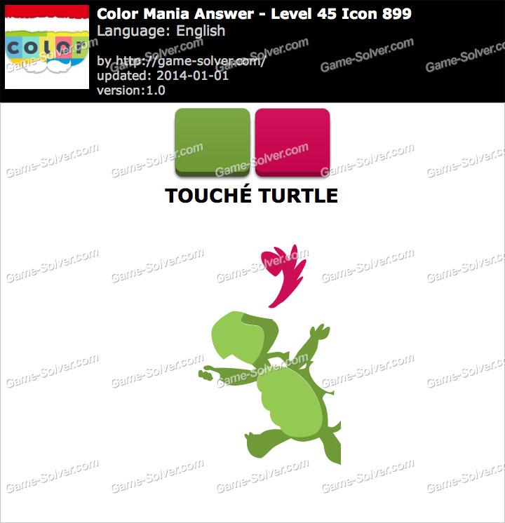 Colormania Level 45 Icon 899 TOUCHÉ TURTLE