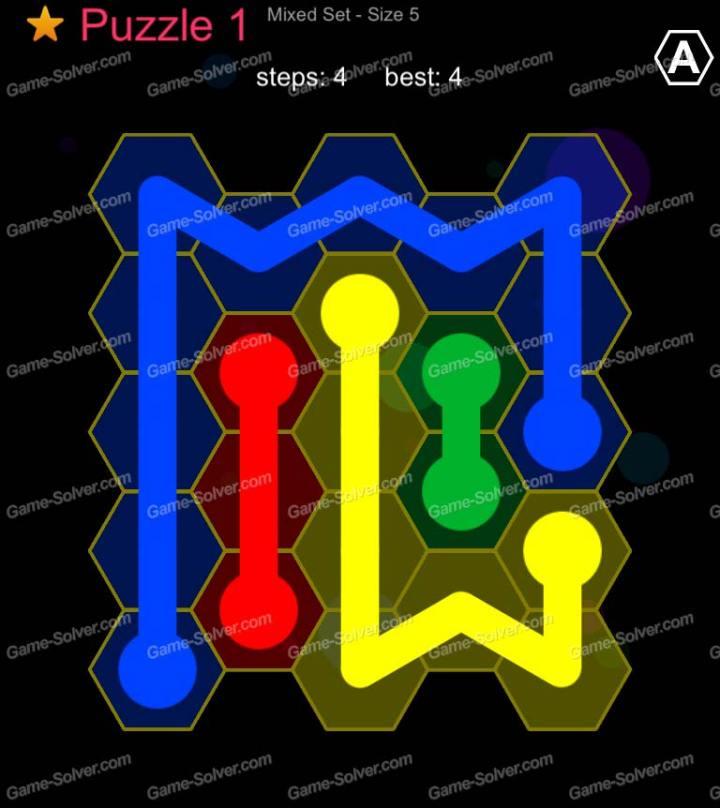 Hexic Flow Mixed Set Size 5 Puzzle 1