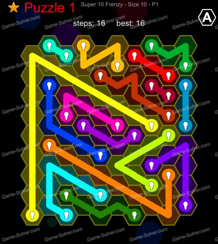 Hexic Flow Super 10 Frenzy P 1 Puzzle 1
