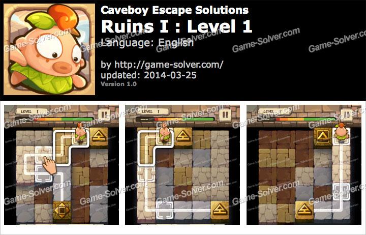 Caveboy Escape Ruins I Level 1