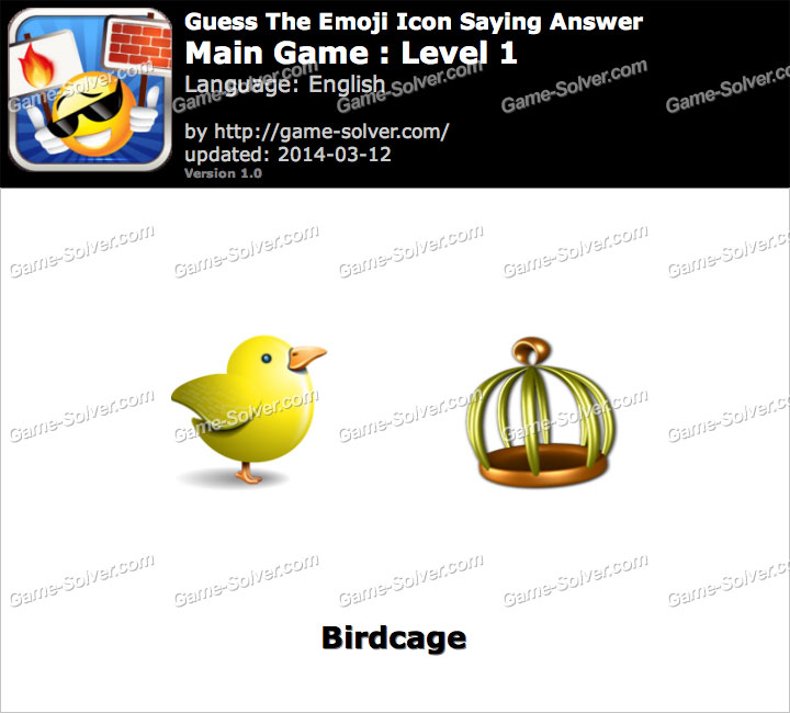 Emoji Icon Main Game Level 1