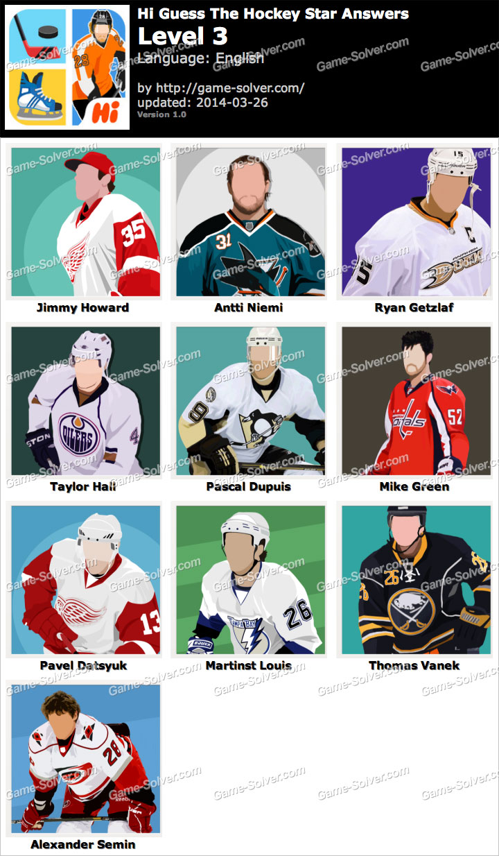 Hi Guess The Hockey Star Level 3