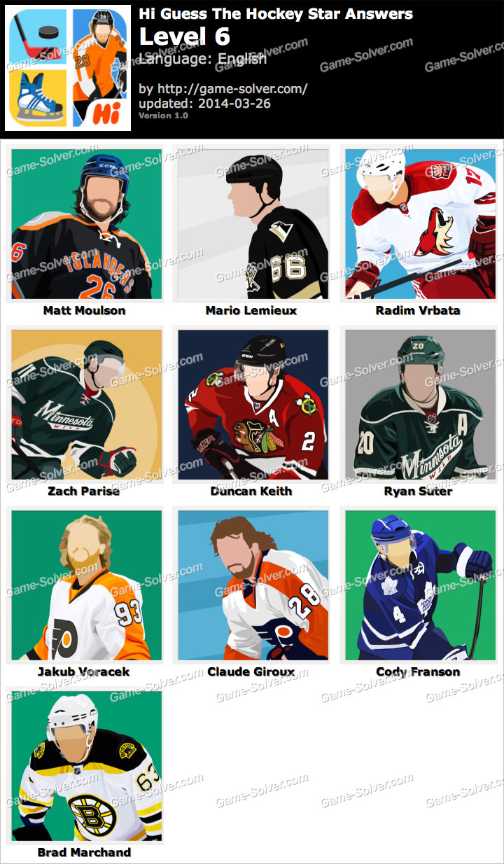 Hi Guess The Hockey Star Level 6