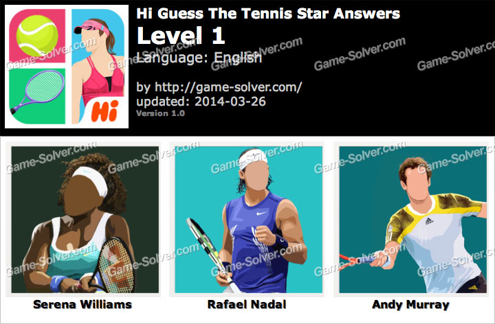 Hi Guess The Tennis Star Level 1
