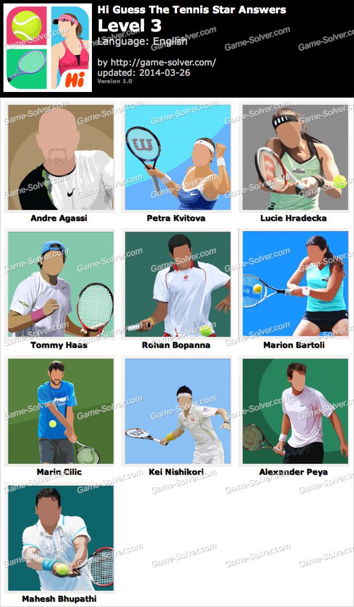 Hi Guess The Tennis Star Level 3