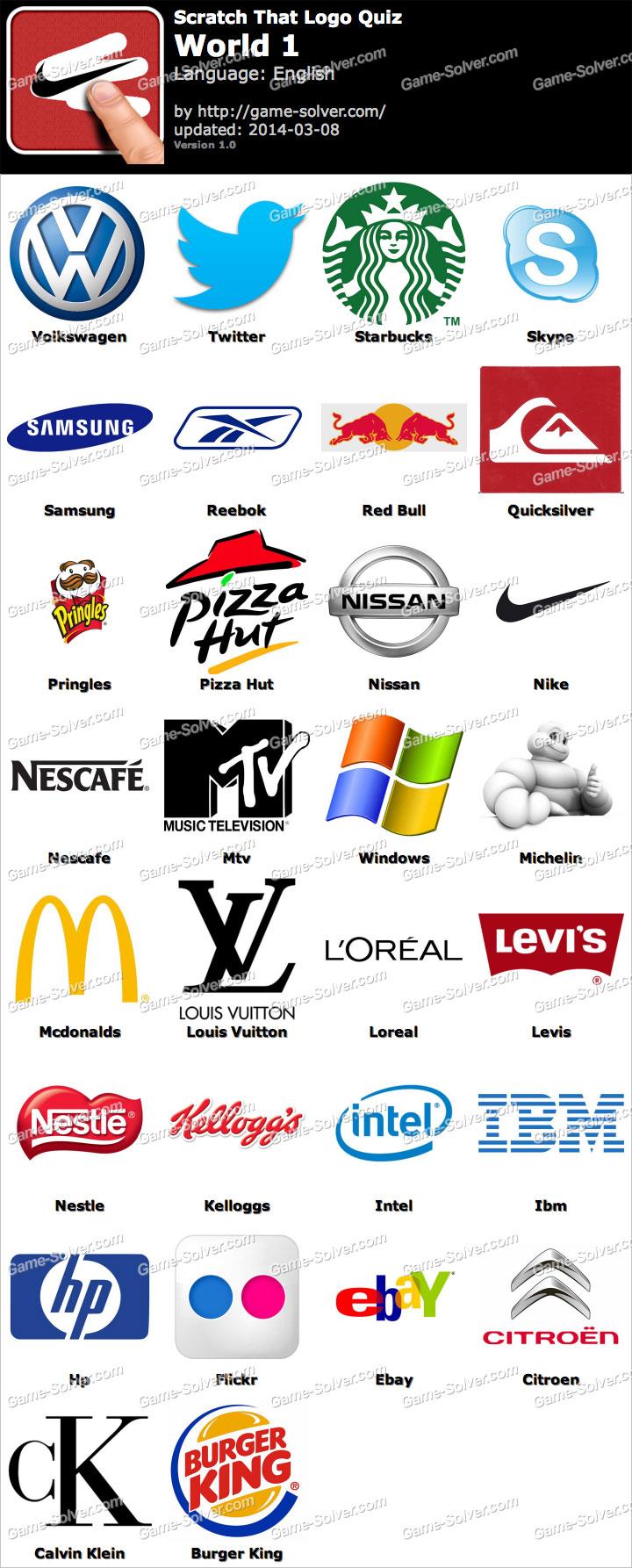 Scratch That Logo Quiz World 1