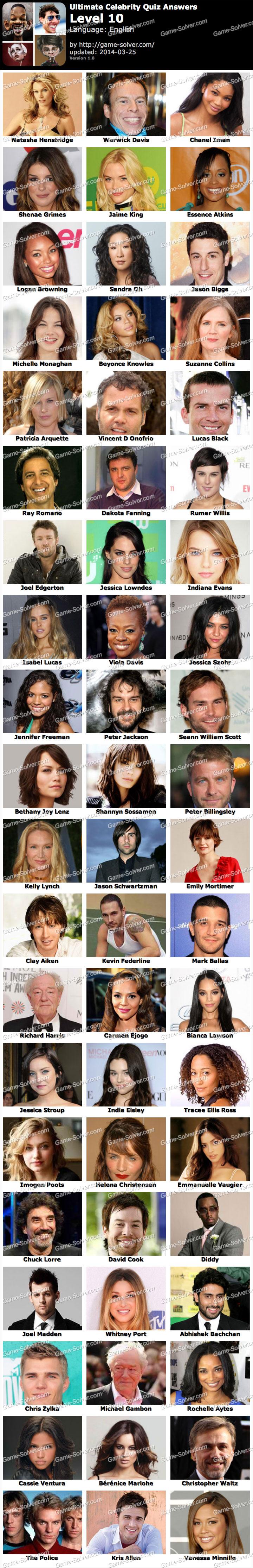 Ultimate Celebrity Quiz Level 10